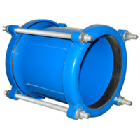 Муфта соединительная стальная Ду450: диапазон обжимаемых труб - по согласованию
