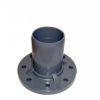 Патрубок ПВХ с фланцем 110/100 мм (10 атм)