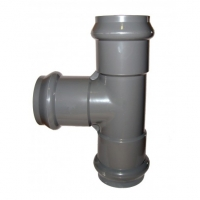 Тройник ПВХ раструбный напорный 110 х 110 х 110 мм (10 атм)