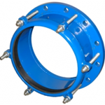 Муфта обжимная стальная Ду150: диапазон обжимаемых труб 144,0 - 172,0 мм