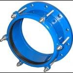 Муфта обжимная стальная Ду151: диапазон обжимаемых труб 158,5 - 181,6 мм