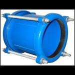 Муфта соединительная стальная Ду125: диапазон обжимаемых труб 125,0 - 153,3 мм