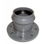 Патрубок ПВХ с фланцем и раструбом 110/100 мм (10 атм)