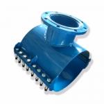 Хомут стальной фланцевый: труба 355/150 фланец